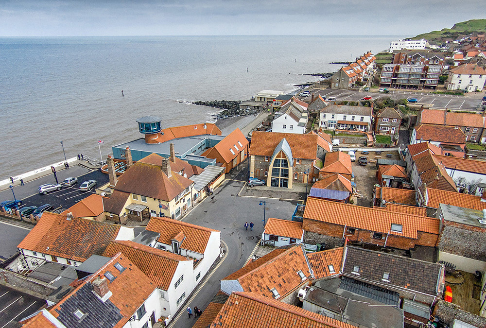 Oddfellows Hall, Sheringham – aerial photography in Norfolk