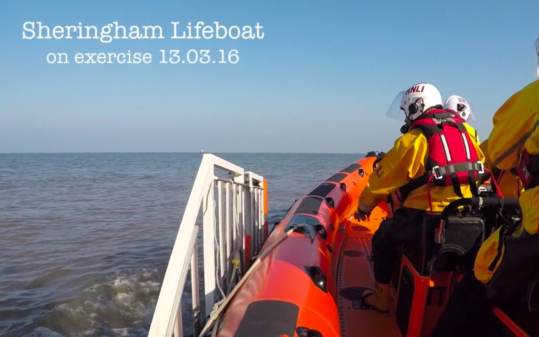 Aerial film Norfolk – Sheringham lifeboat on exercise