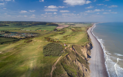 Drone photography & video in Norfolk – Sheringham Golf Club, North Norfolk
