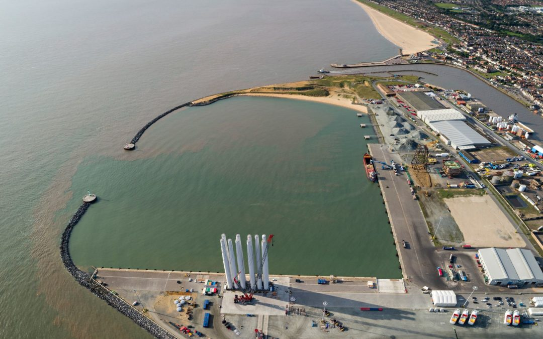 Aerial photography of Great Yarmouth harbour – a commission for Peel Ports