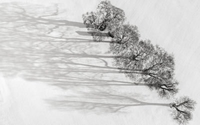 Winter scenes from the air in North Norfolk – Norfolk drone photography